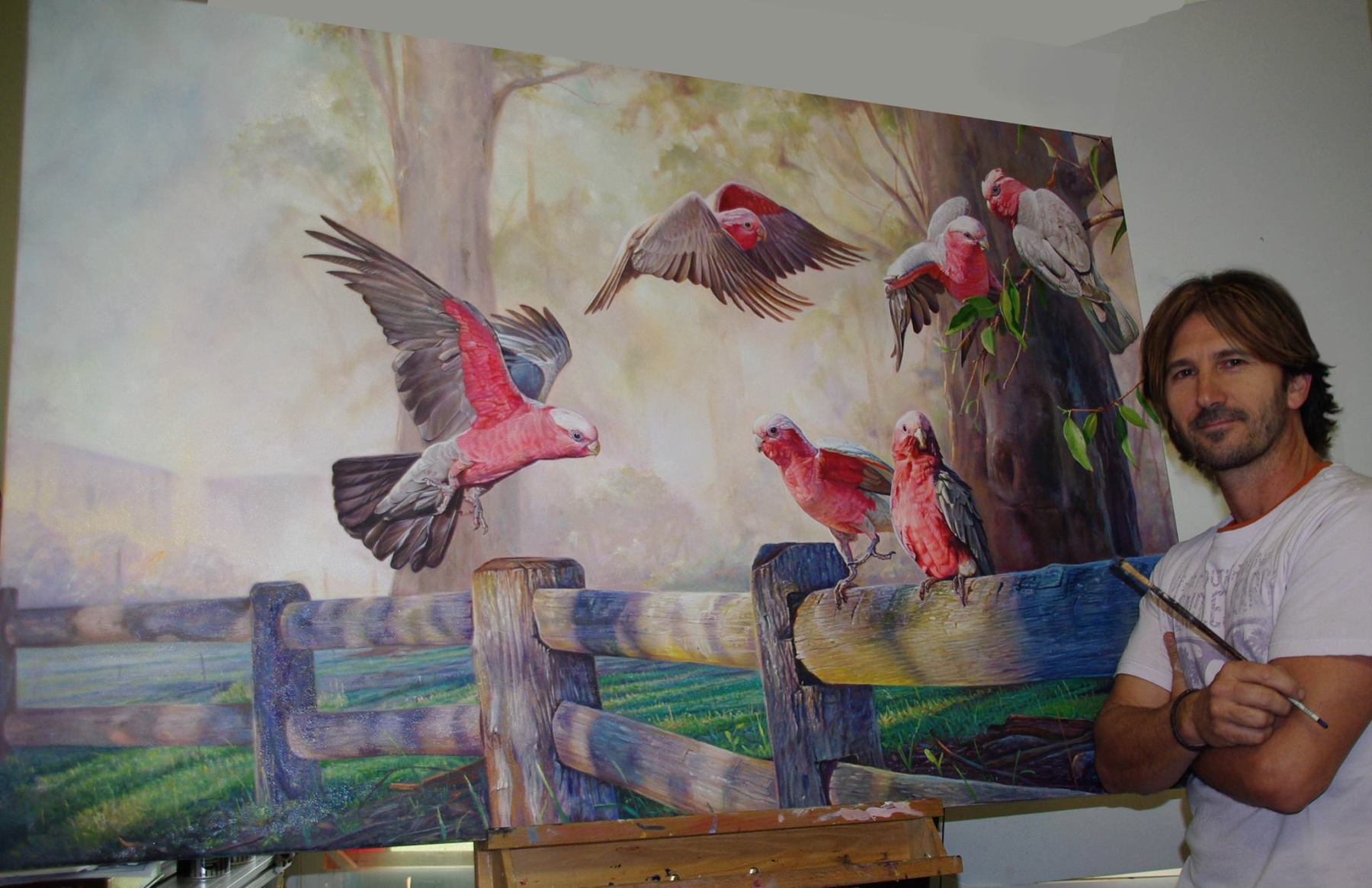 Garry galah painting