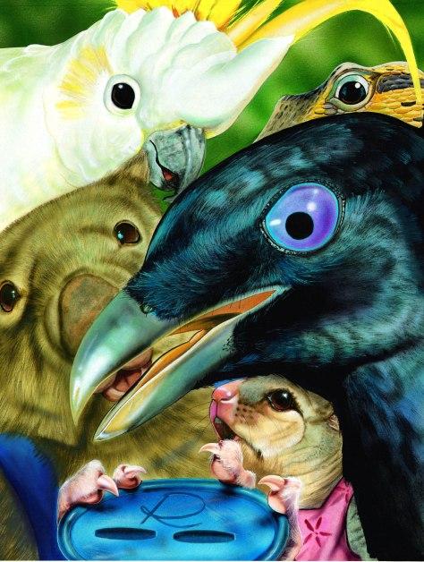 The bowerbird's blue button